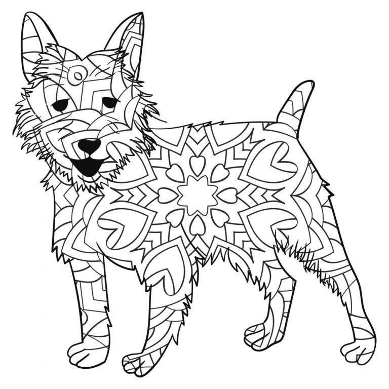 Mandalas De Perros Para Colorear Mandalas Perros Fox Terriers