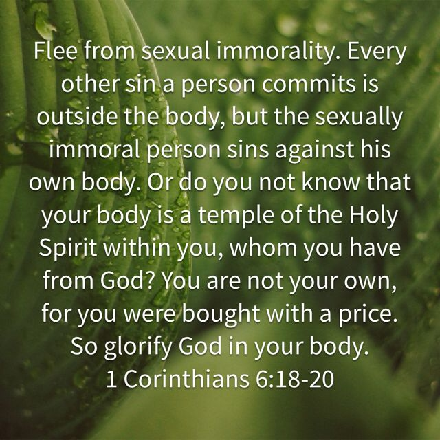 Sexually immoral person sins against his own body