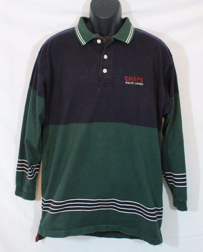 Vintage Ralph Lauren Mens Blake Polo Long Sleeve Shirt Size L 5 Shirts - FREE SHIP! SeirIz