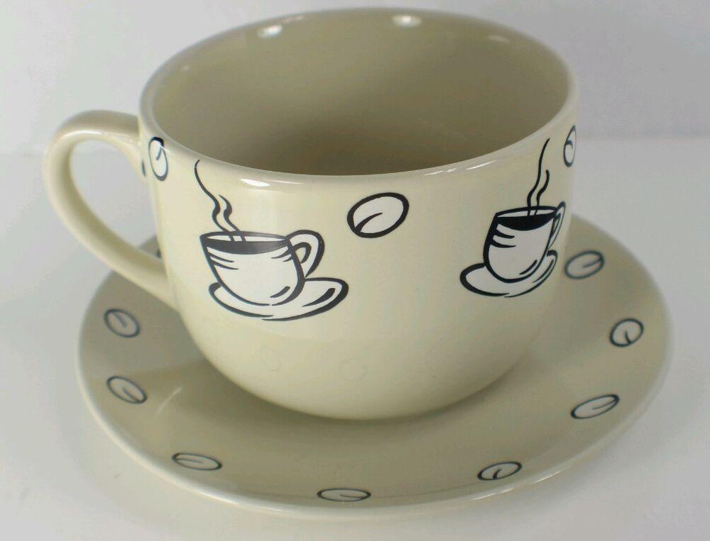 CALIFORNIA PANTRY Classic Ceramics Large MUG CUP JAVA COFFEE HOUSE ...