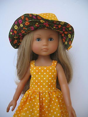 Clothes-for-Corolle-les-Cheries-Paola-Reina-Outfit-13-Doll-Dress-and-Hat