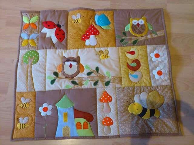 Colcha sewing pinterest dise o edredones de beb y - Colchas patchwork infantiles ...