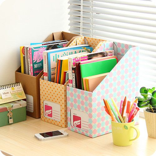 Versi n coreana oficina diy caja de papel 7657 libros y for Caja de cataluna oficinas