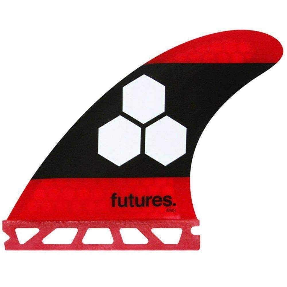 Futures AM3 Honeycomb Small Surfboard Fins In Red In 2020