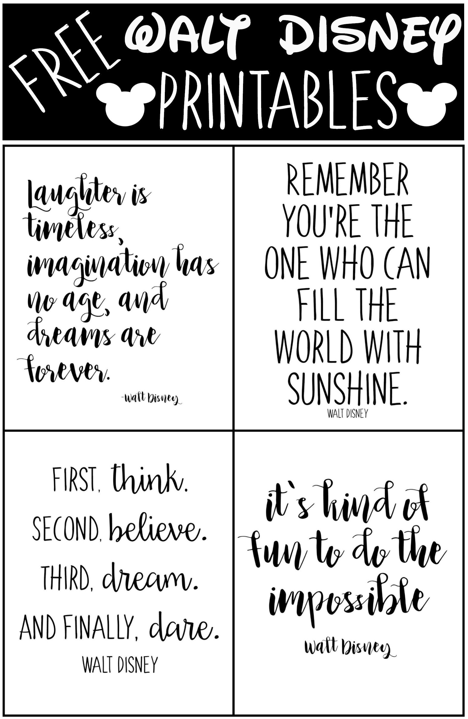 Free Printable Walt Disney Quotes | Walt disney quotes ...