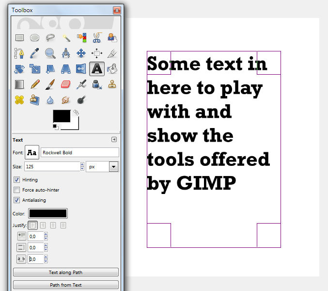 Adjusting Text Line Spacing in GIMP | Graphics Software | Space