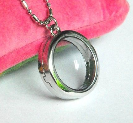 Craft supplies on etsy round clear glass memory locket pendant craft supplies on etsy round clear glass memory locket pendant necklace by glasshousesupplies stylehive aloadofball