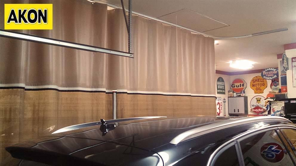 Garage Divider Curtains Photo Gallery In 2019 Ceiling