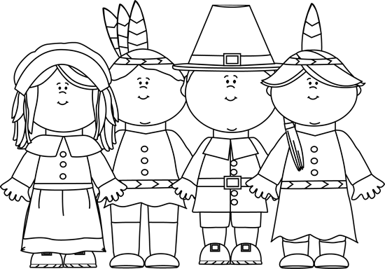 Fall Clip Art Black And White Black and White Indians