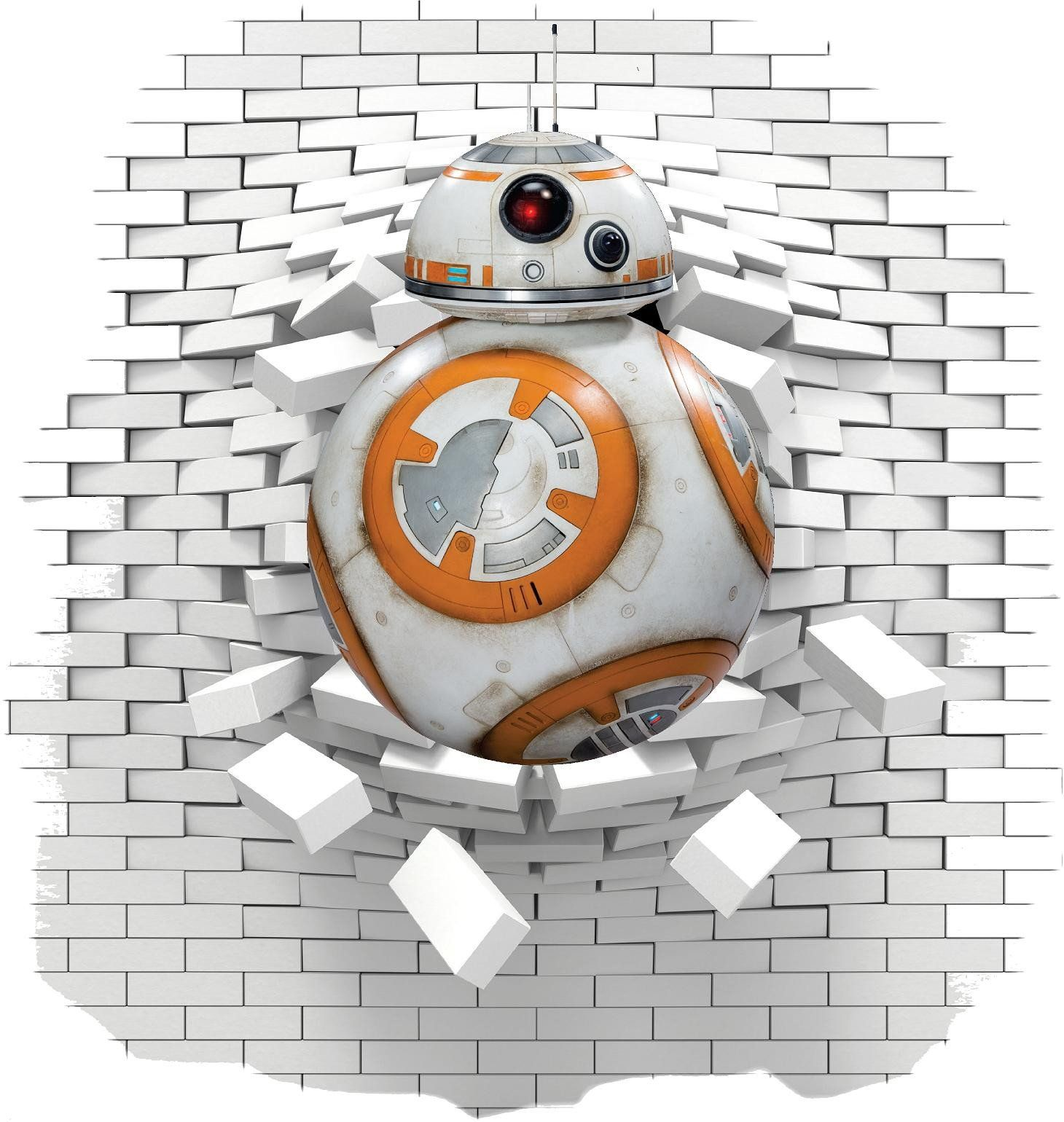 Bb8 star wars wall decal and stickers