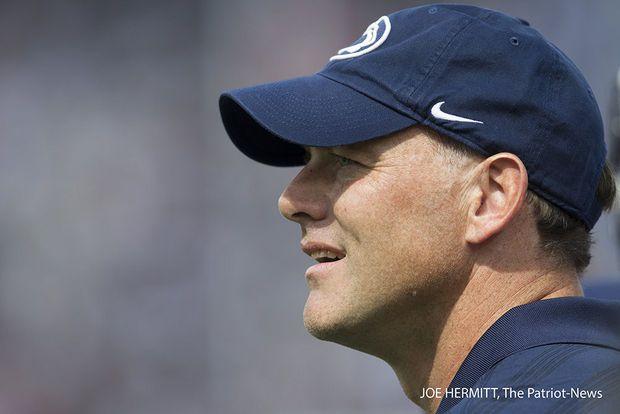 PENN STATE – FOOTBALL 2014 – Penn State offensive coordinator John Donovan during pre game at Beaver Stadium, September 6, 2014. Penn State beat Akron, 21-3. Joe Hermitt, PennLive
