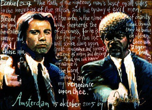 Pulp Fiction by Peter Donkersloot  Excellent Art Holland  120 x 100 cm.