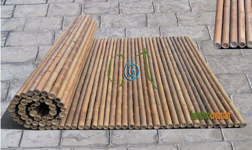Creasianu0027s Fencing 6u0027(ft) Bamboo Fencing (rolls) 1u0027u0027(dia) 8u0027(ft) Rolled Bamboo  Fence Panel3/4u0027u0027(dia)
