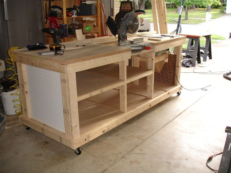 Remarkable Building Your Own Wooden Workbench Diy Workbench Customarchery Wood Chair Design Ideas Customarcherynet