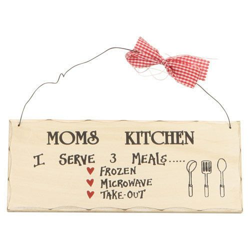 Funny cooking mom quote wood sign plaque home wall decor for Home decor quotes signs