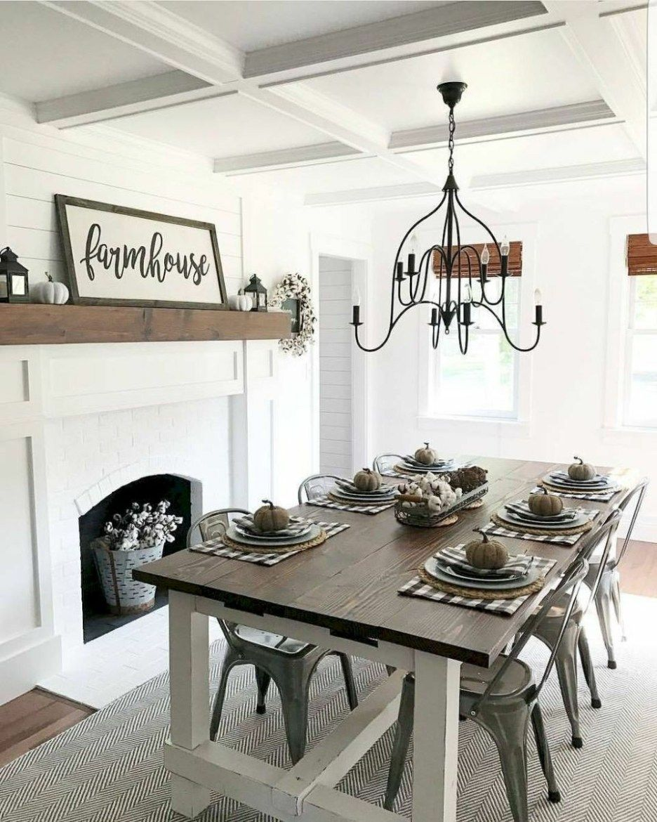 54 Modern Farmhouse Dining Rooms Family Together Dining Room