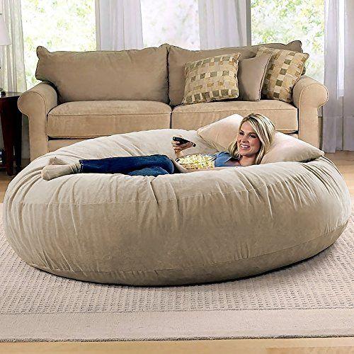 Marvelous Amazon Com Chill Sack Bean Bag Chair Giant 6 Memory Foam Camellatalisay Diy Chair Ideas Camellatalisaycom