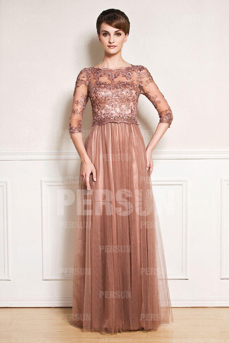0226266d523 Chic robe soirée en tulle avec détail transparent