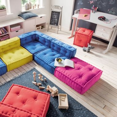 Kindersofa Kids Cushion Sofa Element I Sessel 65x65cm Sessel Kinderzimmer Kissen Sofa Kinder Sofa