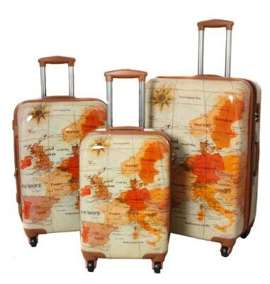 Sepia world map suitcase set suitcases pinterest suitcase sepia world map suitcase set gumiabroncs Image collections