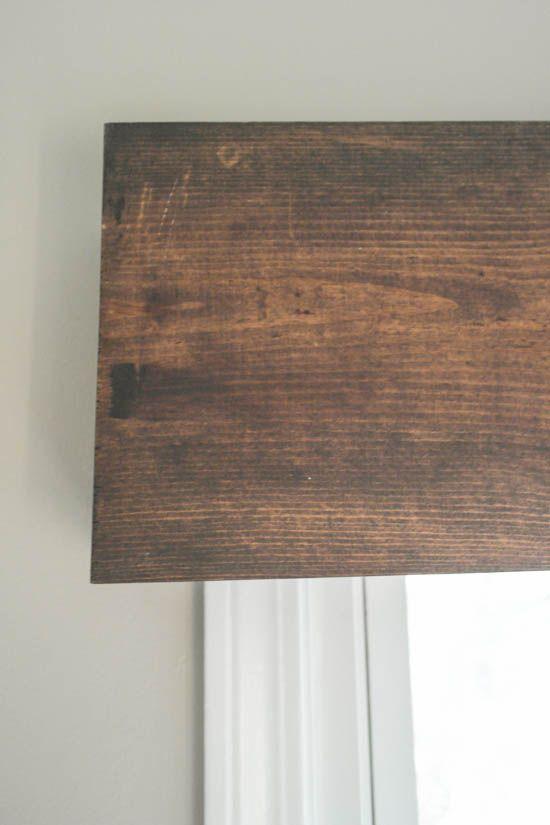 Diy Wood Valance An Easy Inexpensive Window Treatment Sypsie Designs