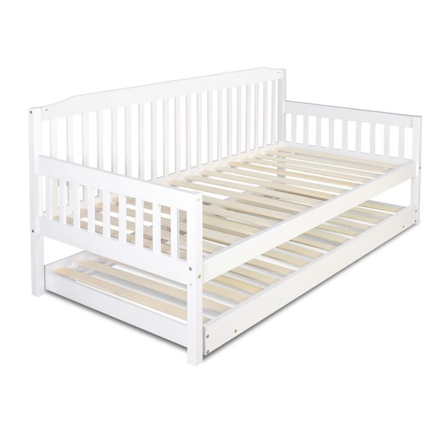 Best Artiss Single Wooden Trundle Bed Frame Timber Kids Adults 400 x 300