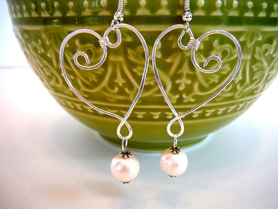 Wire Wrapped Earrings by Debbie Renee Hearts and by DebbieRenee,