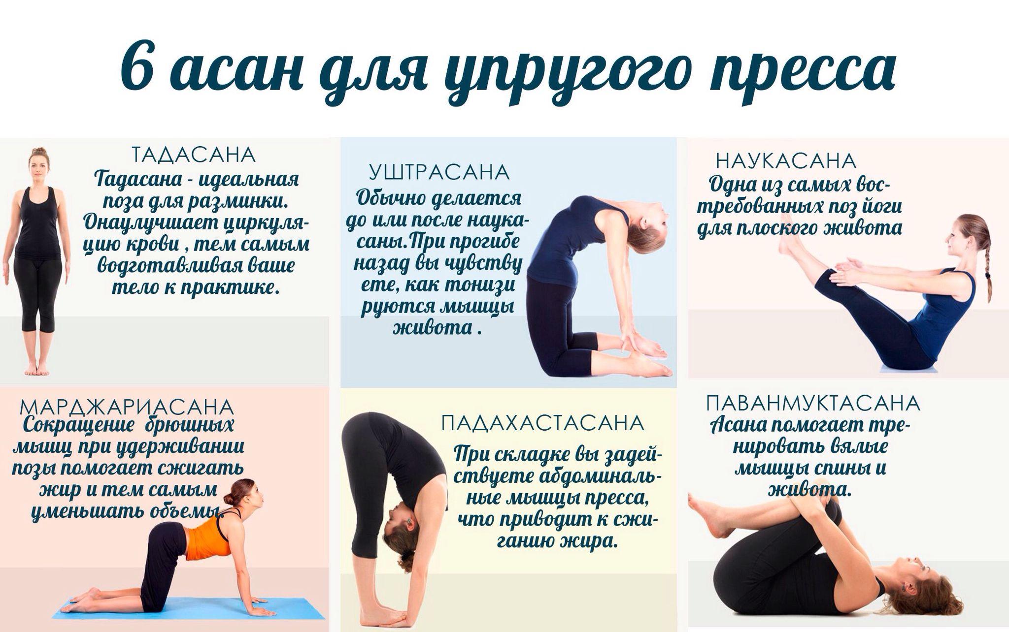 Комплексы йоги в картинках с описанием