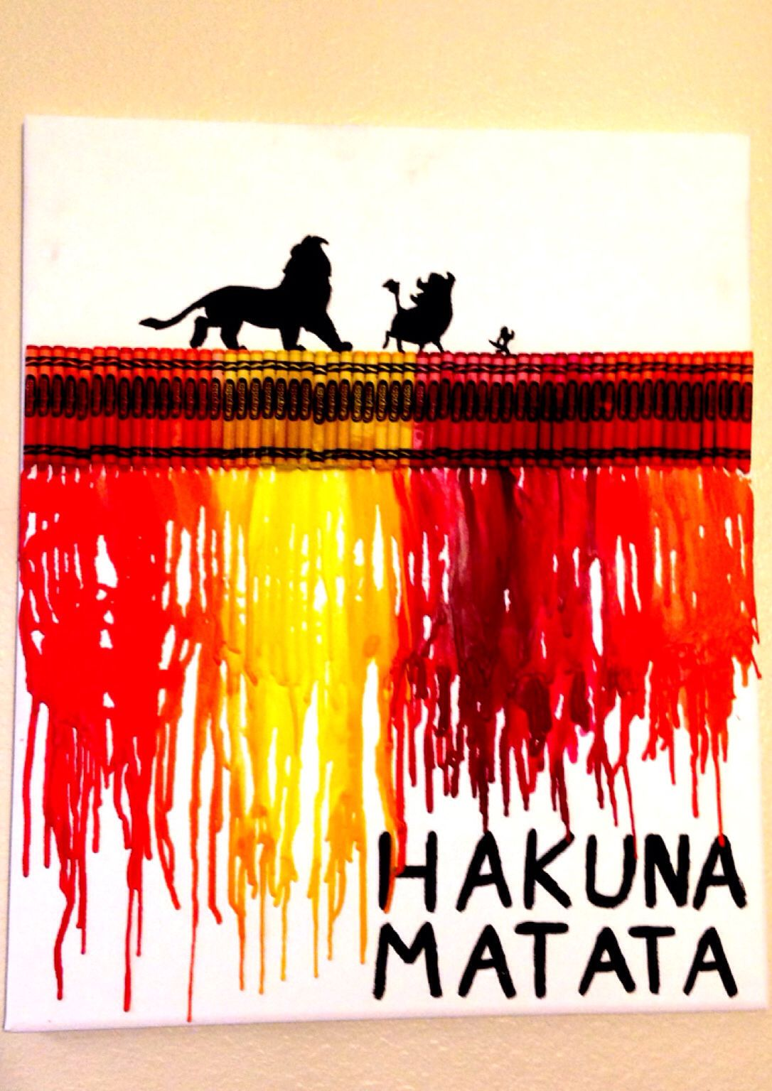 My Absolute Favorite Melted Crayon Art That I Made Crayonart Disney LionKing