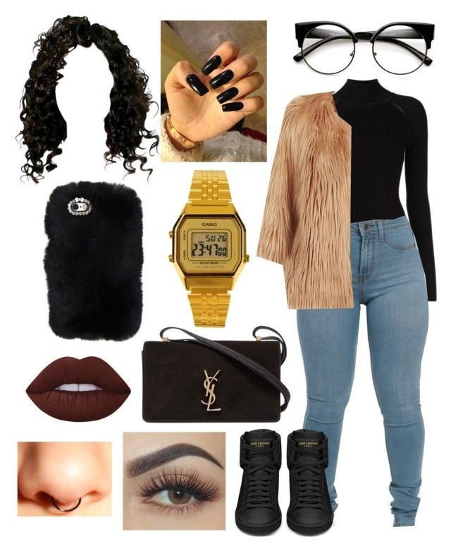 """""""Untitled #374"""" by lexi124 ❤ liked on Polyvore featuring Misha Nonoo, Pinko, Yves Saint Laurent and Lime Crime"""