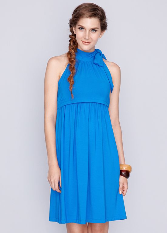 c439d77d9 Dote - Cheryl Bamboo Nursing Dress in Blue
