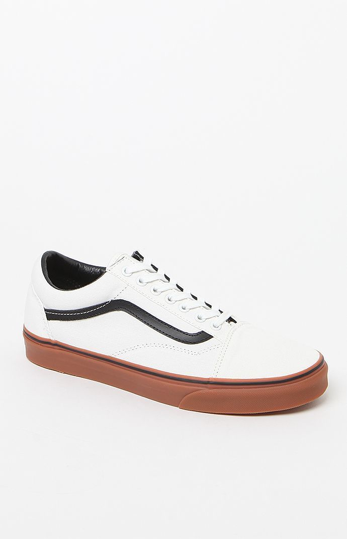 cd42ca54e89a Old Skool White Black  amp  Gum Shoes