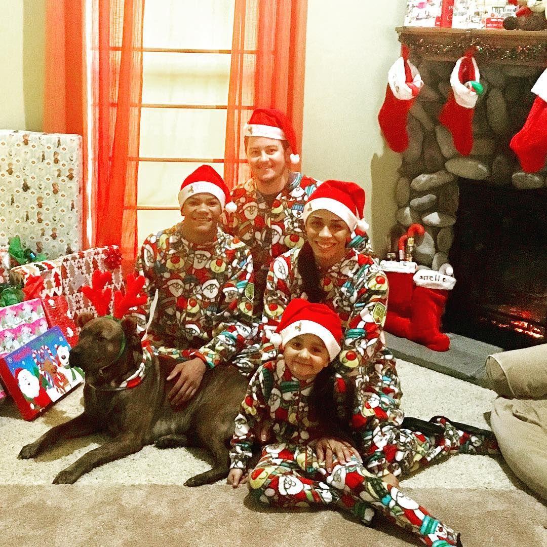 This is an adorable family wearing Snug As a Bug Santa s On His Way matching  Christmas onesies.  snugasabug  matchingpajamas  christmasmagic ... 7de2db445