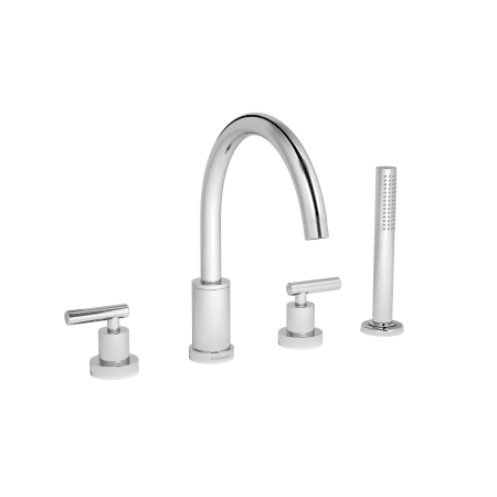 Chrome Sereno Deck Mounted Roman Tub Filler Trim With Metal Lever