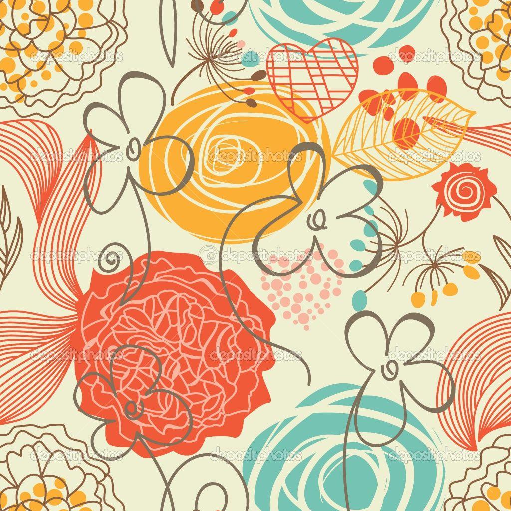 Resultados de la Búsqueda de imágenes de Google de http://static6.depositphotos.com/1011127/538/v/950/depositphotos_5382097-Retro-floral-seamless-pattern.jpg