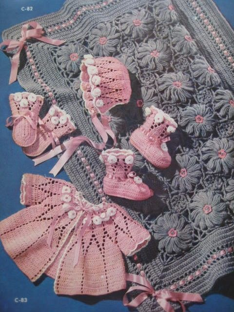 Baby Crochet Patterns 1950\'s 5 Vintage by vintageknitcrochet, $4.00 ...