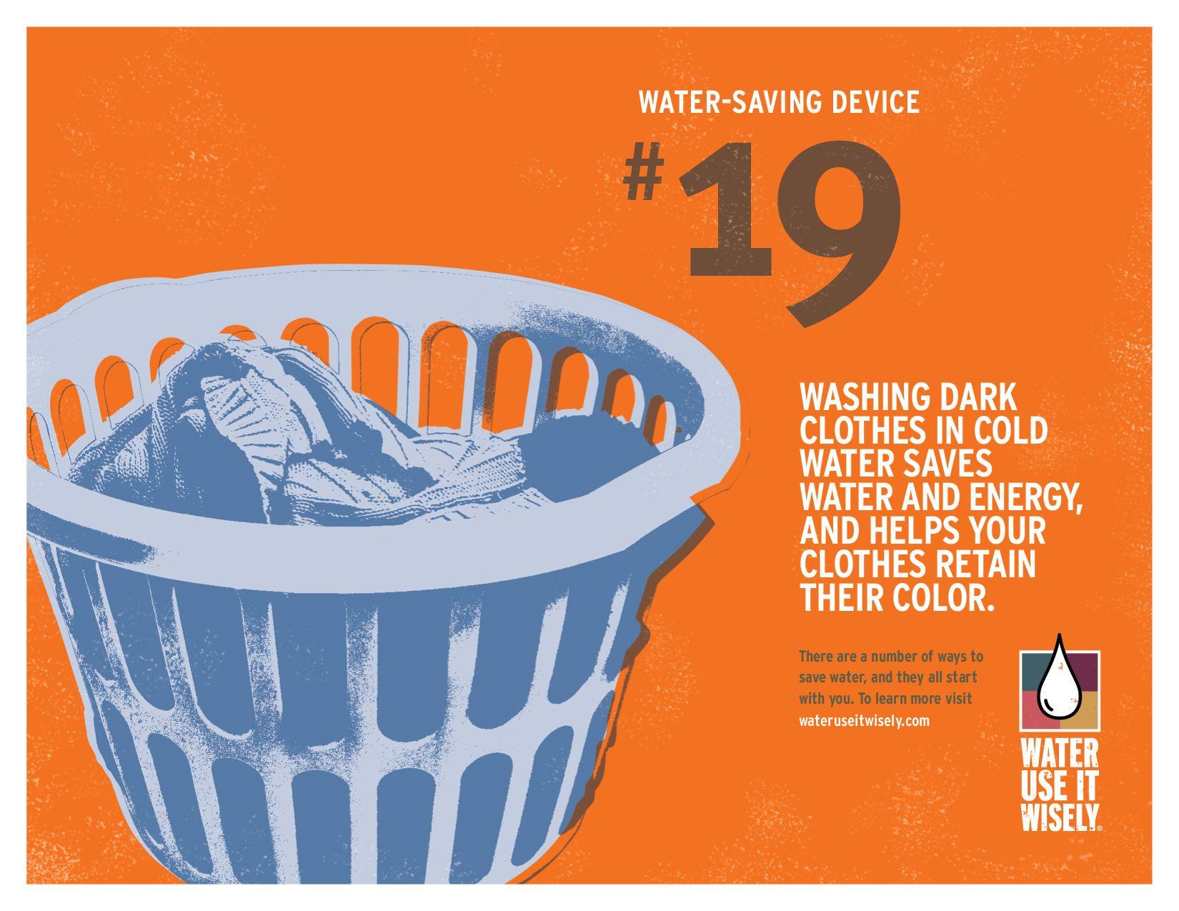 Water Saving Tip No 19 Washing Dark Clothes In Cold