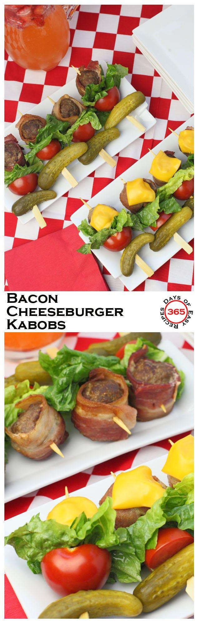 bacon cheeseburger kabobs   bbq & grill : beilagen   pinterest
