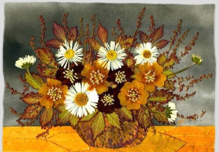 Букет, композиции из сухих цветов и листьев