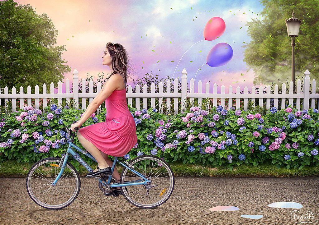 Создаём красочный летний коллаж в Фотошоп | Абстрактный ...