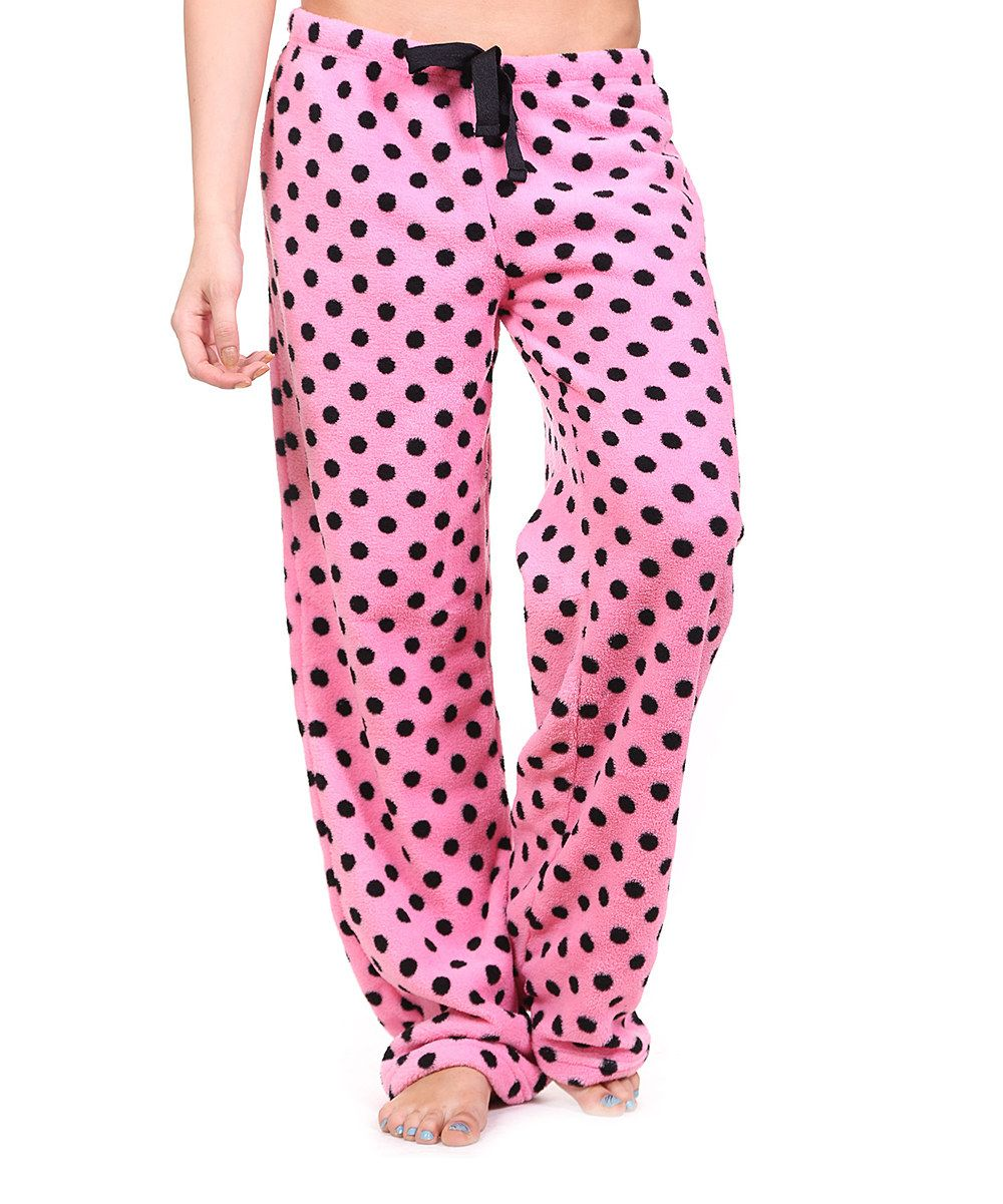 Look What I Found On Zulily Pink Black Polka Dot Pajama Pants