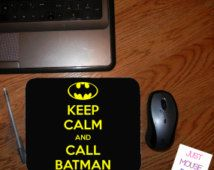 Keep Calm and Call Batman Mouse Pad - Personalized Mouse Pad - Change Colors If You Want At No Extra Charge Design #MP150