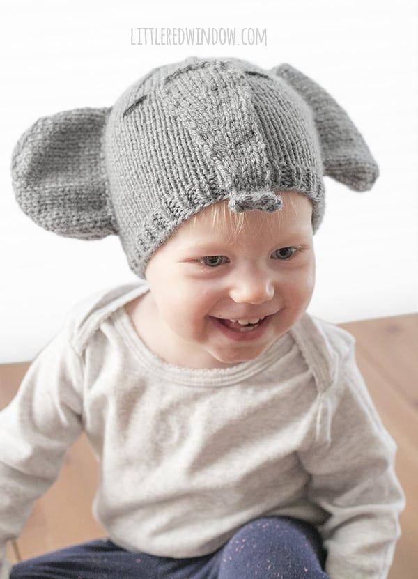 Tiny Elephant Hat Knitting Pattern | Elephant hat, Knitting patterns ...