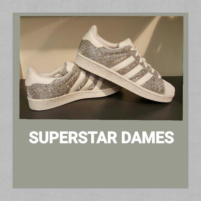 adidas superstar dames glitter