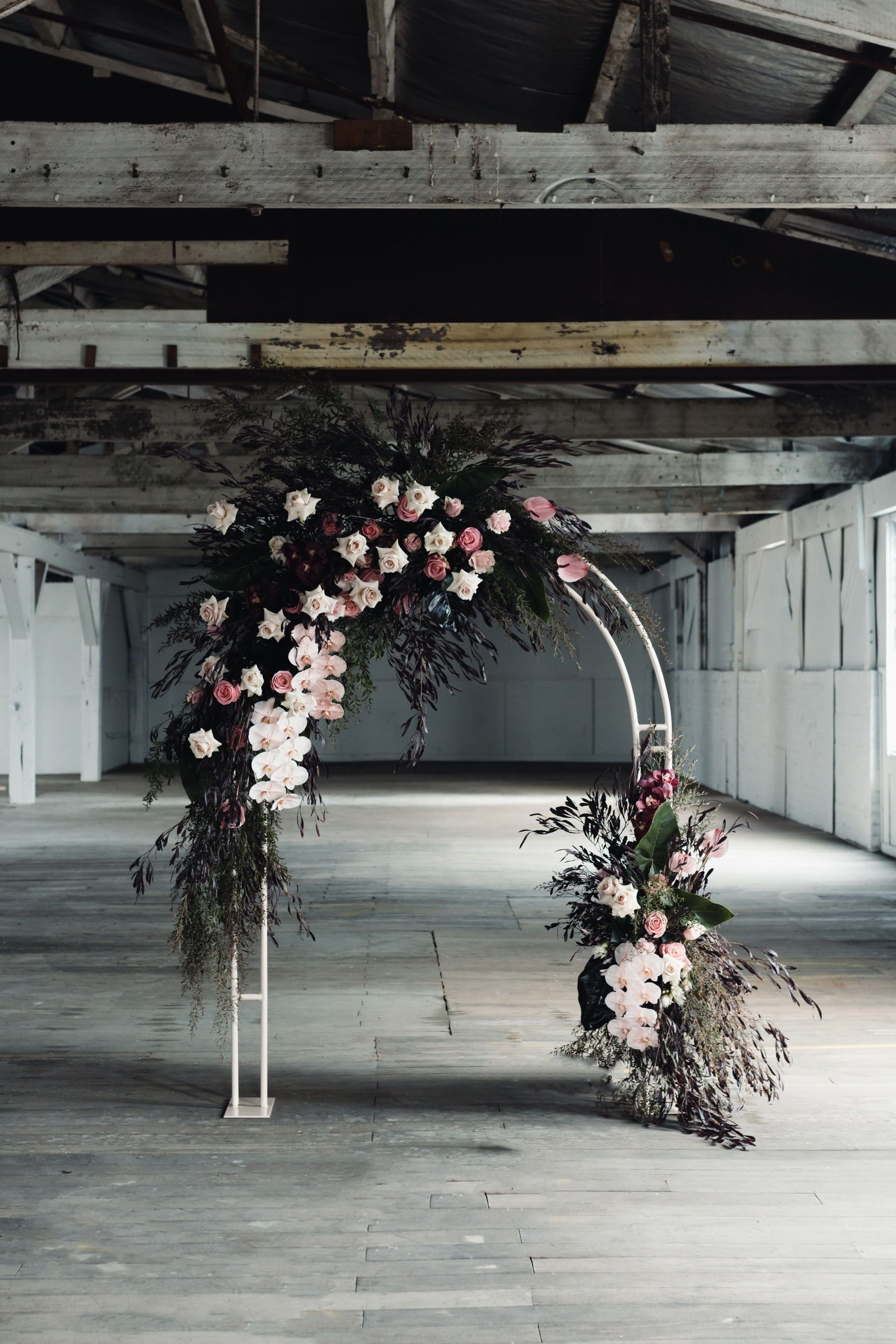Wedding Ceremony Backdrop Ideas Floral Covered Arch Blush And