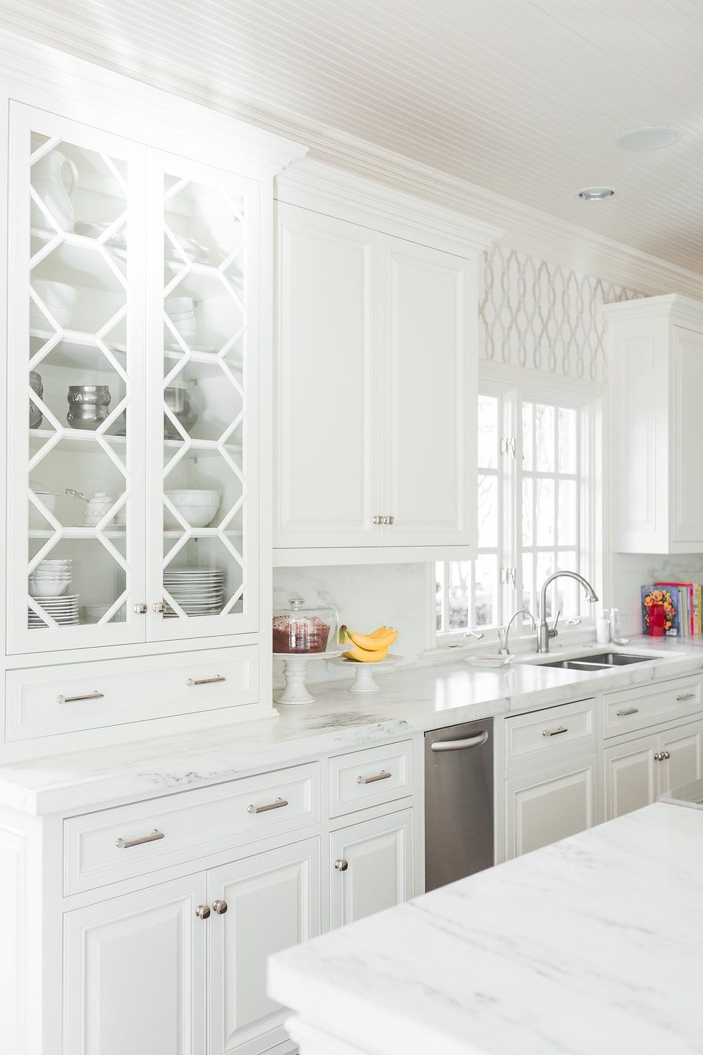My Kitchen Reveal White Kitchen with Pops of Pink and