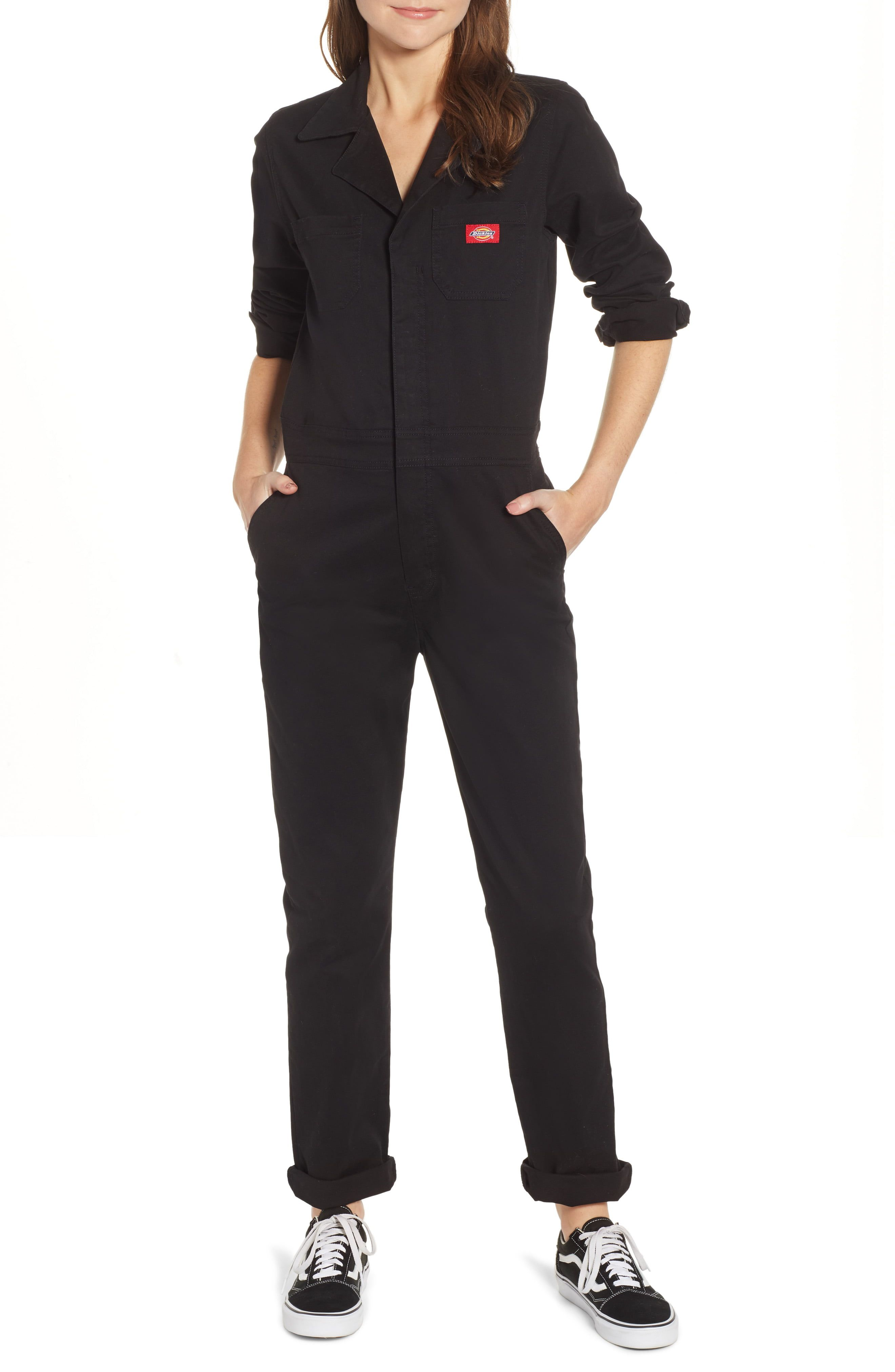 women s dickies twill coveralls size large black on dickies coveralls id=66237