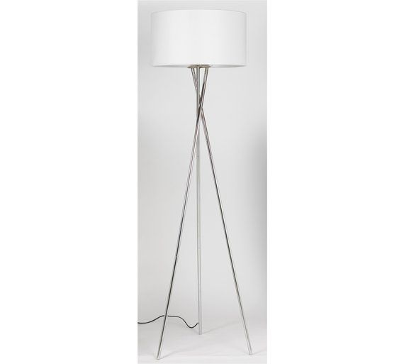 Buy hygena chrome tripod floor lamp white at argos your buy hygena chrome tripod floor lamp white at argos your mozeypictures Choice Image
