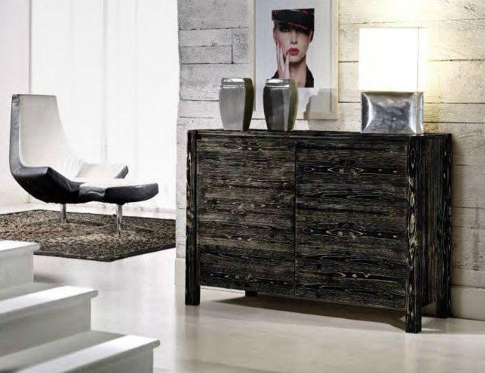 Credenza Moderna In Legno Massello : Madia moderna in legno di abete spazzolato con gambe