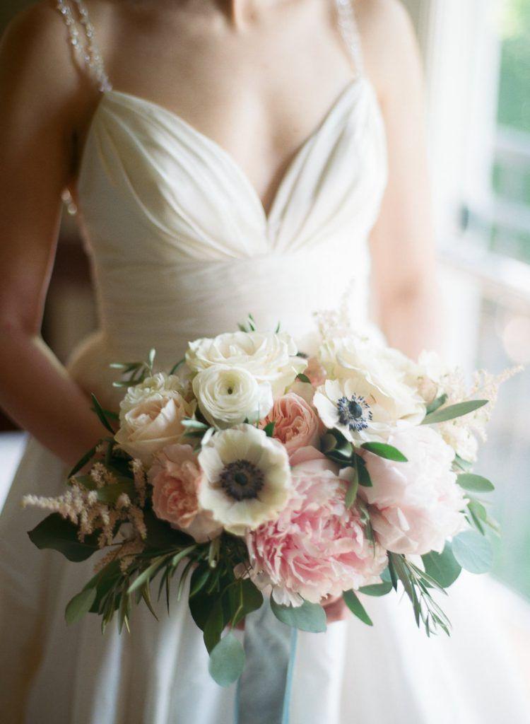 Living Fresh Blush Pink Ivory Soft Blue Wedding Blue Wedding